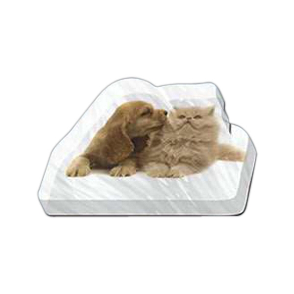 "Puppy And Kitten Shaped Magnet - Acrylic Die Cut Magnet, 1/4"" Thick, 11 Square Inches, Free Custom Die Photo"