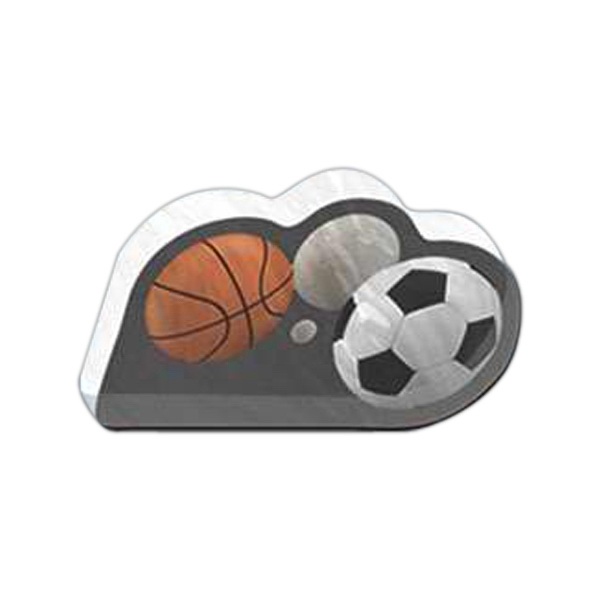"Sports Shaped Magnet - Acrylic Die Cut Magnet, 1/4"" Thick, 10 Square Inches, Free Custom Die Photo"