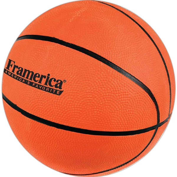 "Regulation Size Basketball, 9"" Round (inflated). Ships Deflated Photo"