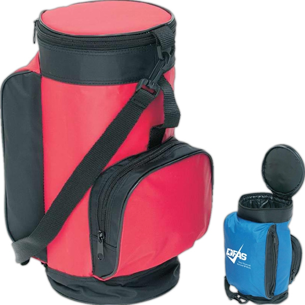 Trail Worthy (tm) - Mini Golf Cooler Bag With Fully Insulated Main Compartment With Liner, Holds 6 Cans Photo