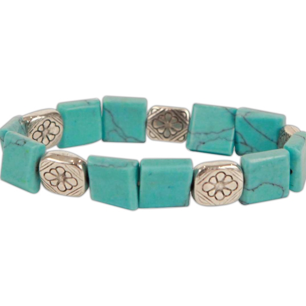 Bret Roberts (tm) - Turquoise Square Cut Bracelet Photo