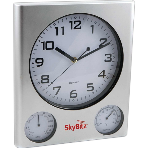 Outdoor Clock And Weather Station, Large And Easy To Read Display Photo