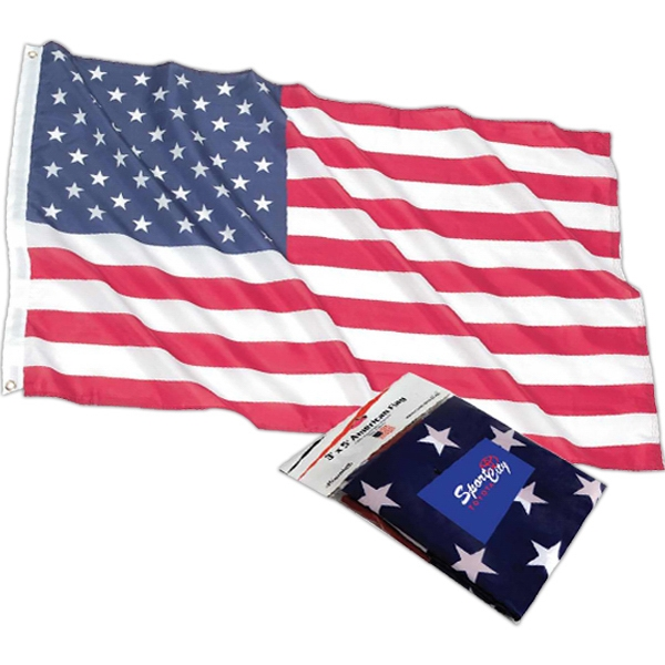 American Flag, Made Of Durable Polyester Material With Sturdy Metal Grommets Photo