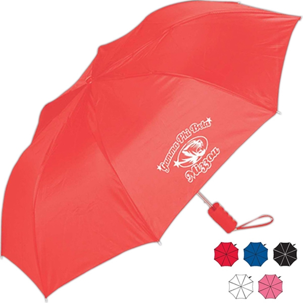 Rainworthy (r) - Flat Top Design Compact Umbrella, Easy To Carry With Matching Cover Photo