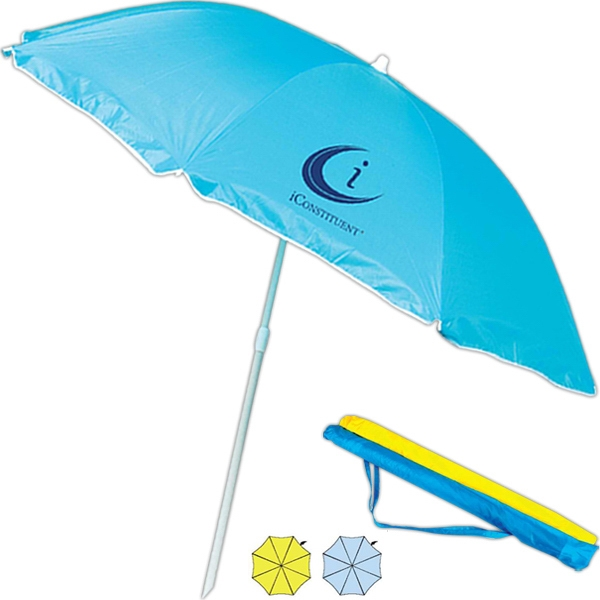 Rainworthy (r) - Beach Umbrella, Two Piece Construction, Self Color Sleeve With Shoulder Strap Photo