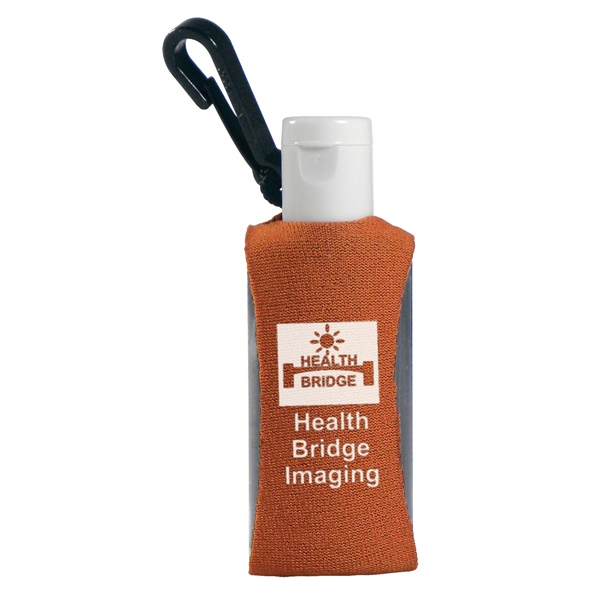 Custom Label Sanitizer In A 1.0 Fl Oz. Bottle, With A Clip Photo