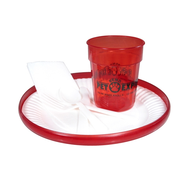"Jewel - Buffet Kit, Includes Flyer, Jewel Cup And 9"" Paper Plate And Utensils Photo"