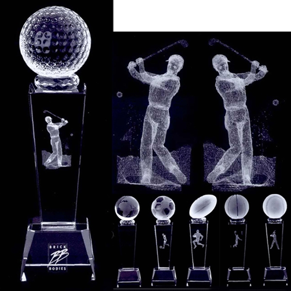 3d Crystal Sports Trophy Photo