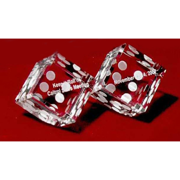 Crystal dice pair