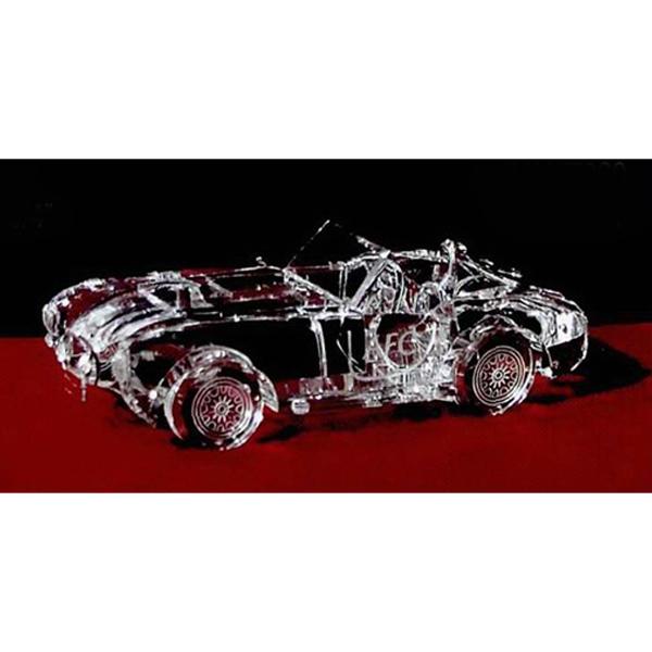 Crystal antique car replica