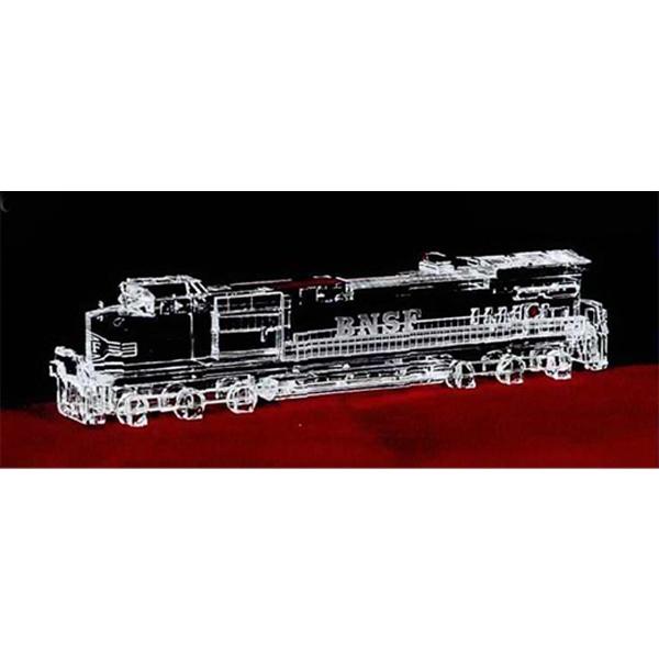 Crystal replica locomotive