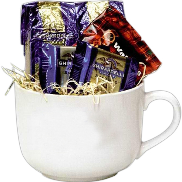Celebration;holiday - Holiday Mug Filled With Gourmet Coffee, Cookies, And Chocolate Photo