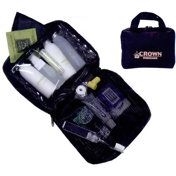 Travel Comfort Set With 2 Inside Pockets, Scope, Toothpaste, Foot Lotion And More Photo