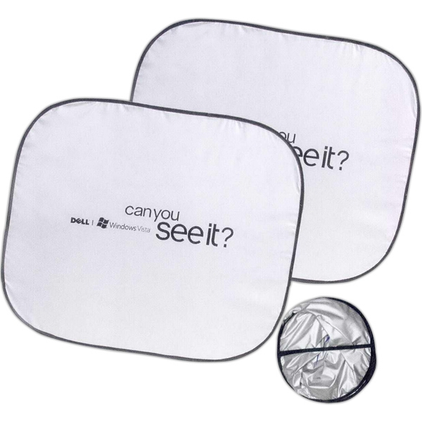Collapsible Nylon Dual Panel Suv Sunshade Photo