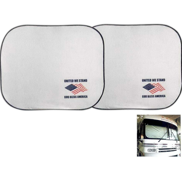 Collapsible Nylon Dual Panel R.v Sunshade Photo