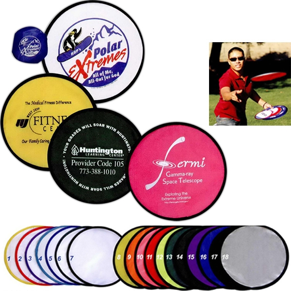 "Collapsible Flying Disc, With Folded Size Of 3.5"" Diameter Photo"