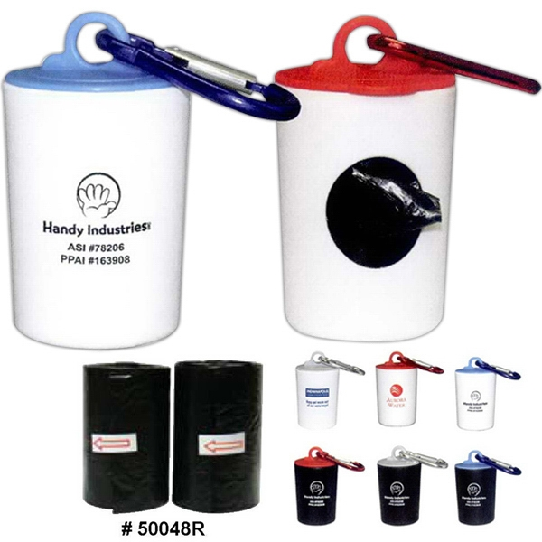 Pet Trash Bag Refills With 20 Color Bags With Paw Print Photo