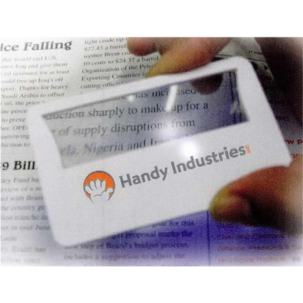 Credit Card Sized Magnifier With Led For Close Up Reading Photo