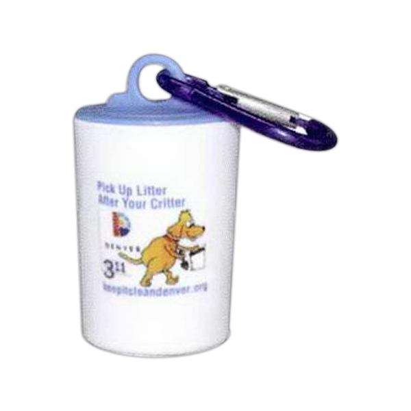 Pet Trash Bag Container, With Full Color Sticker Photo