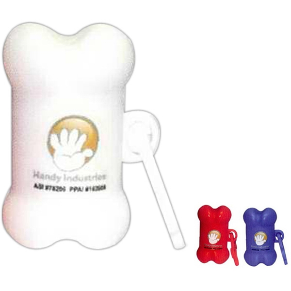 Pet Trash Bag Container, Bone Shape, With Full Color Sticker Photo