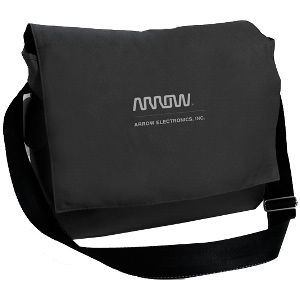 Threads - Nylon Messenger Bag With Flap Closure Photo