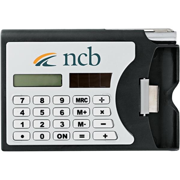 Network - Solar-powered Calculator With Built-in Business Card Holder Photo