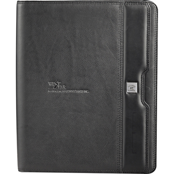Cutter & Buck Performance Series Zippered Padfolio - Napa full grain leather zippered padfolio.