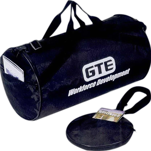 Embroidery - Nylon Fold-away Roll Bag With Pu Backing Photo