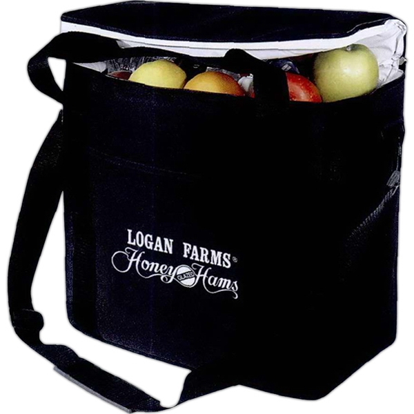Silkscreen - Large Picnic Cooler With Leak-proof Liner, Carrying Handles And Shoulder Strap Photo