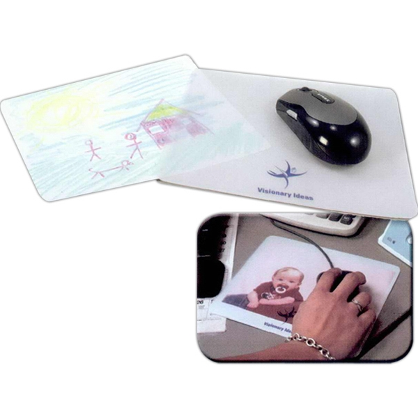 Clear Craft Mouse Pad With White Color Fun Insert Photo