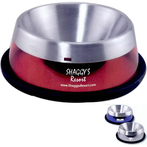 Stainless Steel Liner Pet Bowl With Colored Shell Photo