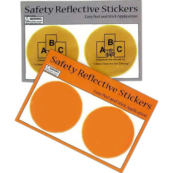 Round Safety Reflective Sticker Photo