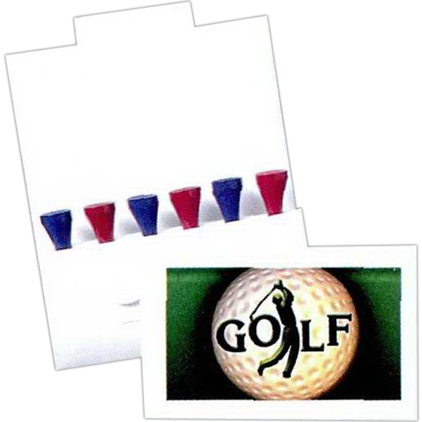 Six Tee Golf Packet With Tees And Ball Marker Photo