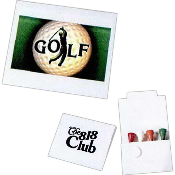 Four Tee Golf Packet With Four Tees And 1 White Ball Marker Photo