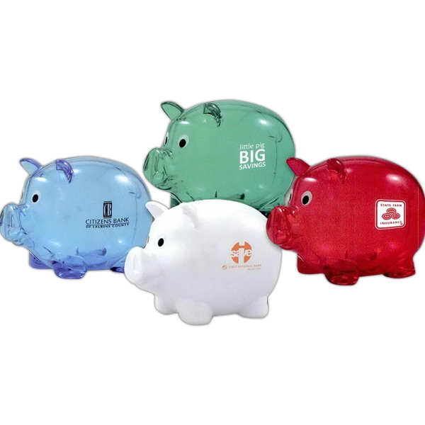 The Promotional Piggy Bank With Twist Off Plug On Bottom Photo
