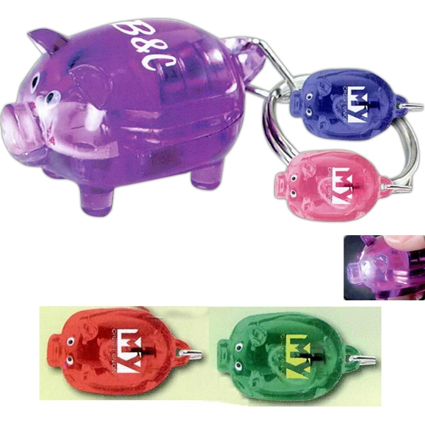 Light Up Piggy Key Tag Photo