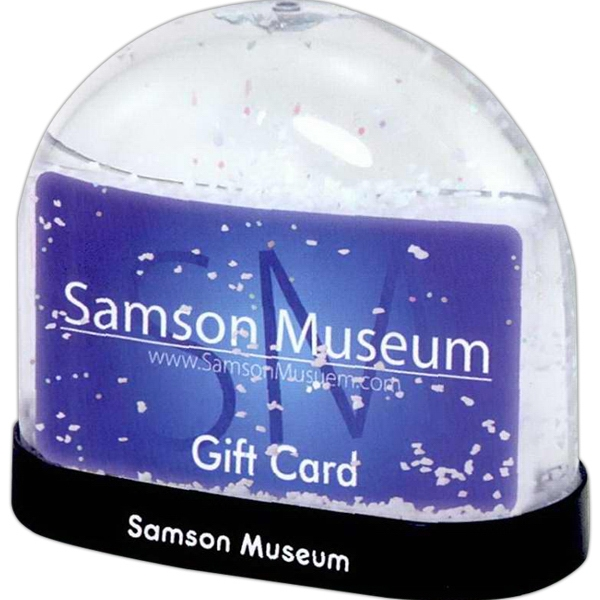 Gift Card Snow Globe Photo