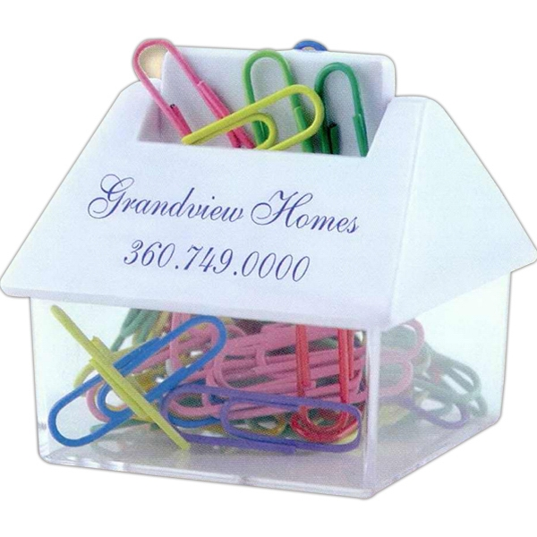House Shaped Paper Clip Dispenser Photo