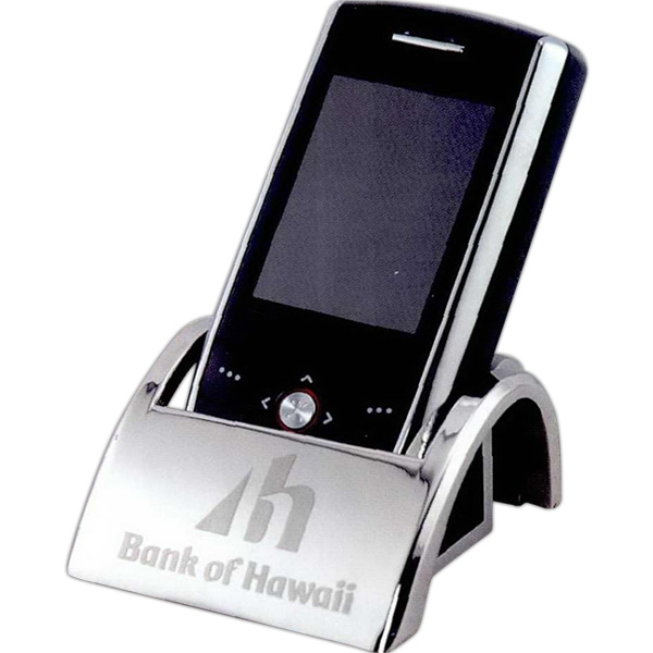 Nickel Plated Cell Phone Holder Photo