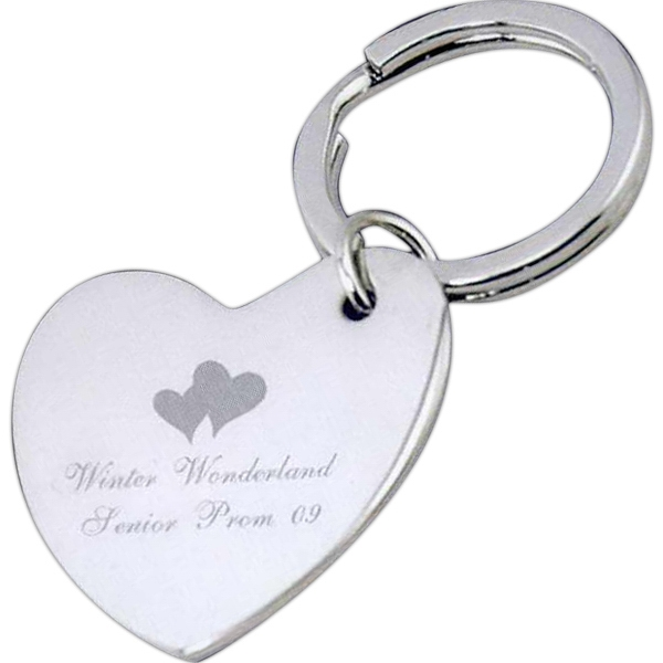 Nickel Plated Heart Key Tag Photo