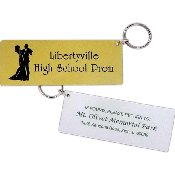 Mirror Finish Ticket Key Tag Photo