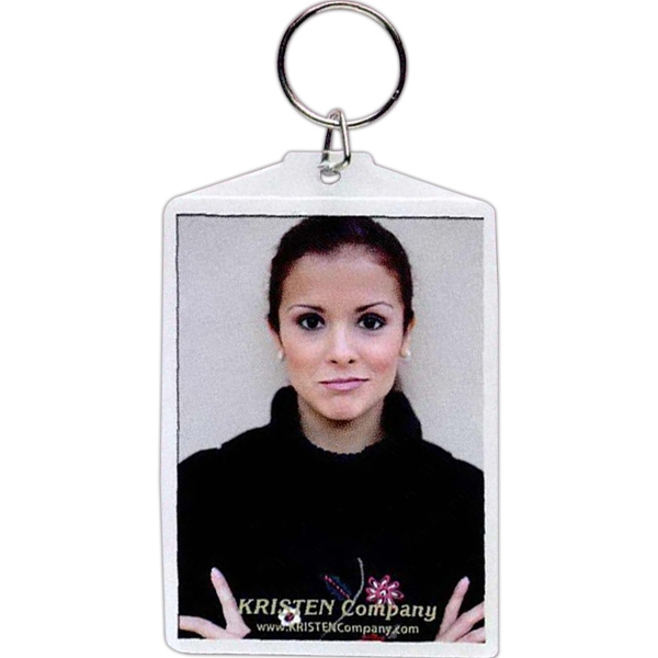 "Snap-in Key Tag, Insert Size 2 - 2 1/2"" X 3 1/2"" Photo"
