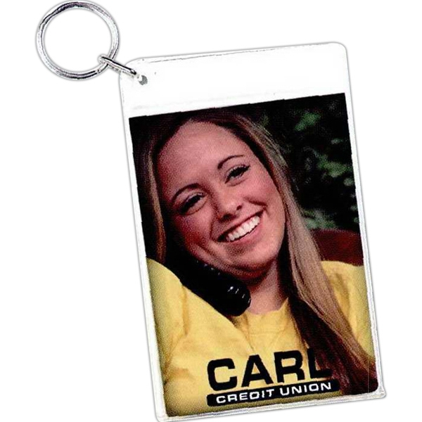 "Slip-in Key Tag, Insert Size: 2- 2 1/2"" X 3 1/2"" Photo"