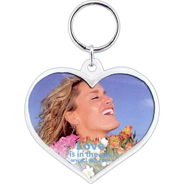 "Snap-in Heart Key Tag, Insert Size: 2 - 2 3/8"" X 2"" Photo"