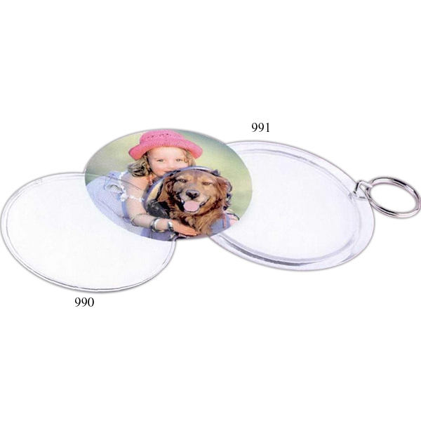 "Snap-in Key Tag, Insert Size 2 - 2 1/4"" Photo"