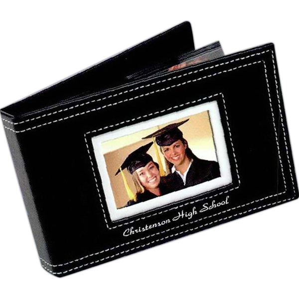 "Black Album For 6"" X 4"" Photos With White Stitching Photo"