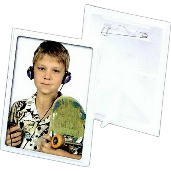 "2"" X 3"" Snap-in Button Frame. Blank Photo"