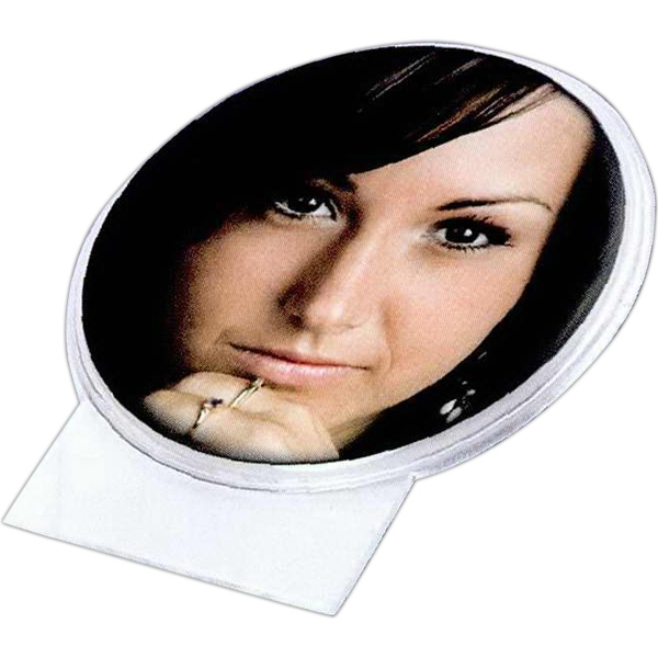 "2 7/8"" Snap-in Photo Button With Id Panel. Blank Photo"