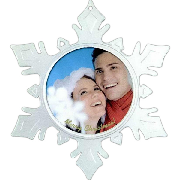 Clear Snap-in Snowflake With Frosted Flare Tips Photo