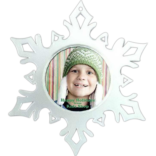 "Clear Snap-in Snowflake With Frosted Flare Tips, Insert Size: Holds 2 - 2 1/4"" Dia Photo"